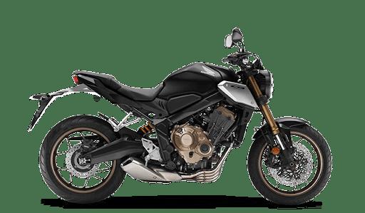 A black 2021 Honda CB650R