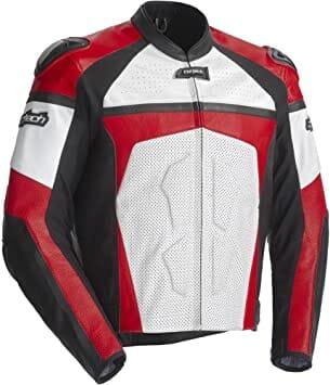 Cortech Adrenaline Men's Leather On-Road Racing Motorcycle Jacket
